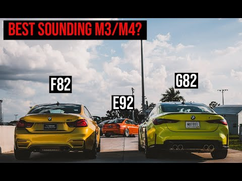 Exhaust Sound Test: New M3/M4 (G80/G82) vs. F82 M4 vs. E92 M3 (V8)