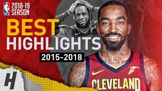 JR Smith BEST Highlights with the Cleveland Cavaliers   Clutch Shots, CRAZY Dunks   2015-2018
