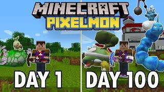 I Spent 100 Days in Minecraft Pixelmon... This is What Happened   Pokemon in Minecraft