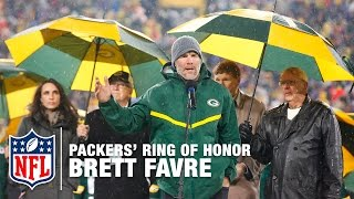 Brett Favre's #4 Unveiled in Packers' Ring of Honor | Full Ceremony