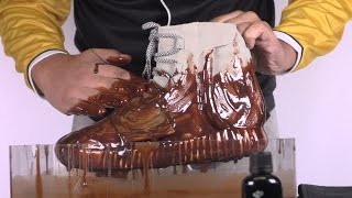 How to clean Yeezy 750 Boost vs chocolate syrup - Crep Protect Cure -EXTREME TEST 1