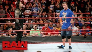 John Cena returns to Raw for a confrontation with Roman Reigns: Raw, Aug. 21, 2017
