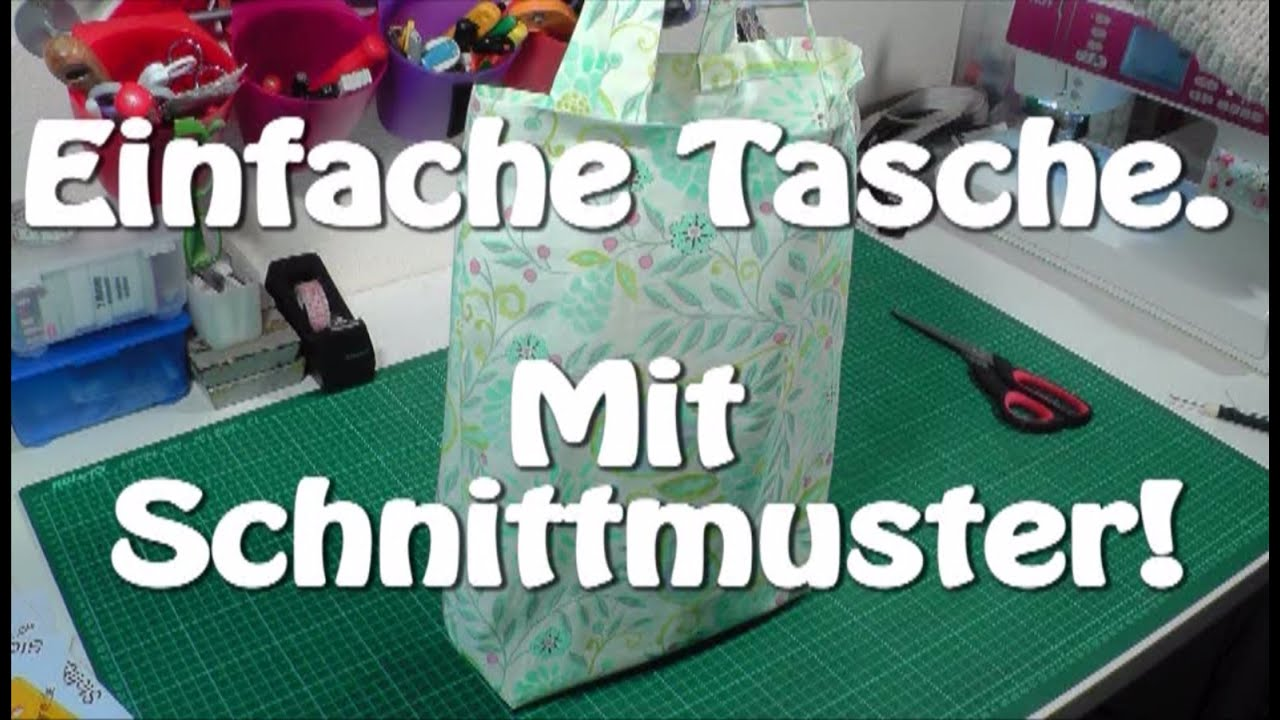 diy einfache tasche beuteltasche einkaufstasche selber n hen n hen f r anf nger tutorial. Black Bedroom Furniture Sets. Home Design Ideas