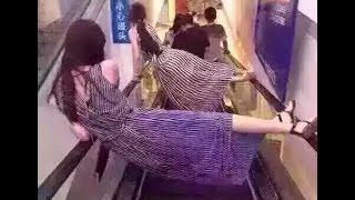 Đây Là Cách Các Bạn Trẻ Đi Thang Máy Cuộn    escalater