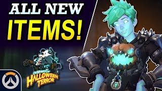 ALL NEW Skin & Cosmetic Items! - Overwatch 2019 Halloween Event