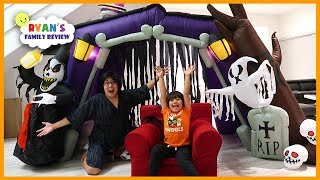 24 hours challenge overnight in the halloween haunted house!!!!