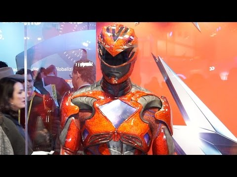 Up-Close with the New Power Ranger's Movie Costume - CES 2017