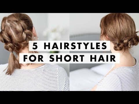 5 Hairstyles for Short Hair in 90 Seconds