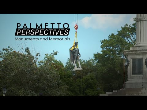 screenshot of youtube video titled Palmetto Perspectives | Monuments and Memorials