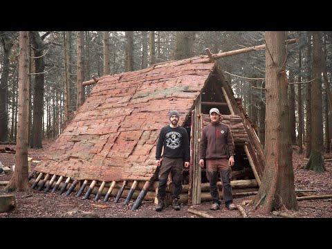Building a Dark Age Viking House: Bushcraft, Hand Tools, Vikings