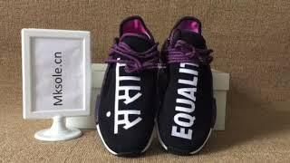 pharrell x adidas razza umana nmd tracce parità nero (mksole viola