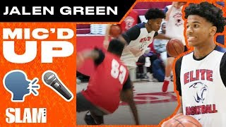 Jalen Green was WYLIN' in the Gym MIC'D UP 😂 | SLAM Practice