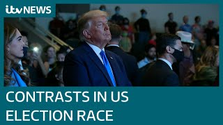 Donald Trump and Joe Biden take different approaches as US election campaign nears end | ITV News