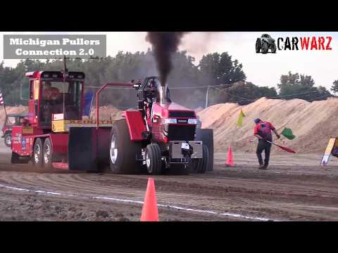 Super Farm Tractor Class From TTPA Tractor Pulls In Fowlerville Michigan 2018