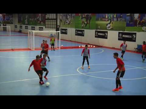 NSCAA Futsal Level 1 Activity: Attacking Pattern Play - Introductory 1 3 1