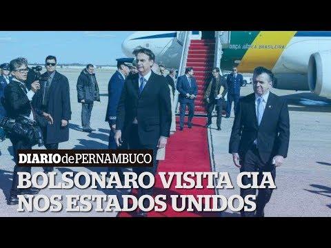 Em visita fora da agenda, Bolsonaro vai � CIA e mira acordos comerciais
