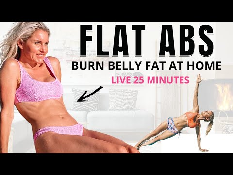 25 min FLAT ABS at home workout (no equipment) BURN BELLY FAT