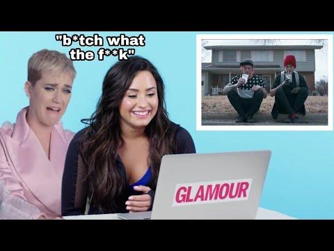 Demi Lovato & Katy Perry listening to Twenty One pilots