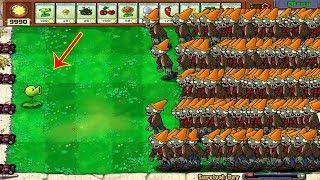 1 Peashooter vs 999 Conehead Zombie Hack Plants vs Zombies