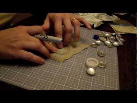 How to Make Fabric Covered Buttons via SavingTheFamilyMoney.com