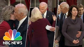 Is Joe Biden's Touchiness Out Of Touch? Revisit His Mock Swear-Ins | NBC News