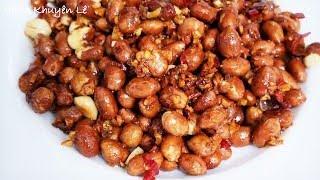 ĐẬU PHỘNG - Cơm 3 món Đậu Phộng chiên tỏi ớt, thịt kho tiêu, cải Thảo xào Dầu hào by Vanh Khuyen