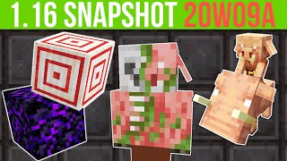 Minecraft 1.16 Snapshot 20w09a Crying Obsidian, Target Block & Zombified Piglin!