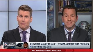 NFL Total Access | [BREAKING NEWS] DT Gerald McCoy to sign 1-yr/$8M contract with Panthers