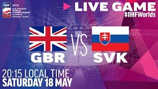 Great Britain vs. Slovakia | Full Game | 2019 IIHF Ice Hockey World Championship