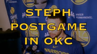 "Entire STEPH CURRY postgame: Klay defending Westbrook, Warriors ""threatened"" after Phoenix loss"