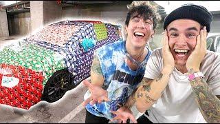 EPIC Wrapping CAR PRANK on KIAN LAWLEY!! (Payback!)