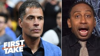 Stephen A. isn't apologizing to Rob Pelinka until Magic's claims are proven false | First Take