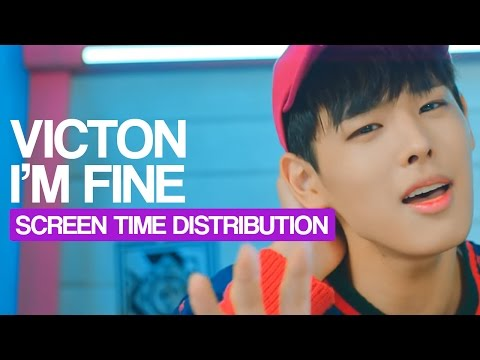 VICTON - I'm Fine Screen Time Distribution (Color Coded)