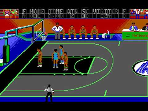 Magic Johnson's Basketball (Sculptured Software, Synergistic Software) (MS-DOS) [1989]