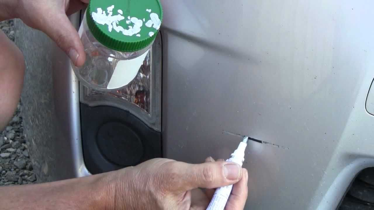 How To Use A Touch Up Paint Pen Bumper Paint Scratch