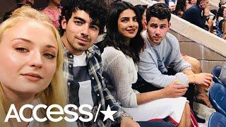 Joe Jonas & Sophie Turner Have Double Date With Nick Jonas & Priyanka Chopra At US Open | Access