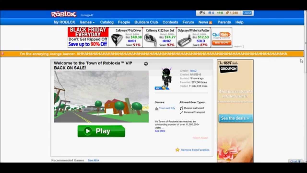 Roblox April fools joke/hack 2012 CRAZYNESS - YouTube