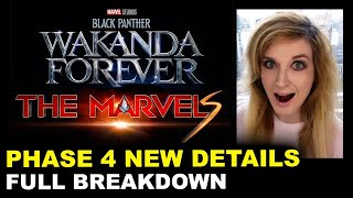Black Panther Wakanda Forever, The Marvels - MCU Phase 4 BREAKDOWN