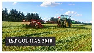 Harvesting First Cut Hay NEW SEEDING:  Vlog 92