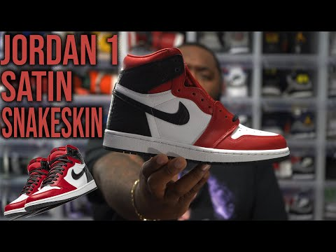 AIR JORDAN 1 CHICAGO SATIN SNAKE SKIN SNEAKER REVIEW! THESE SNEAKERS WILL BE TROUBLE!
