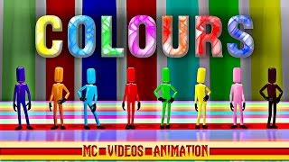 COLOURS | Learn Colours Name with Spellings for Kids | Edutainment Video