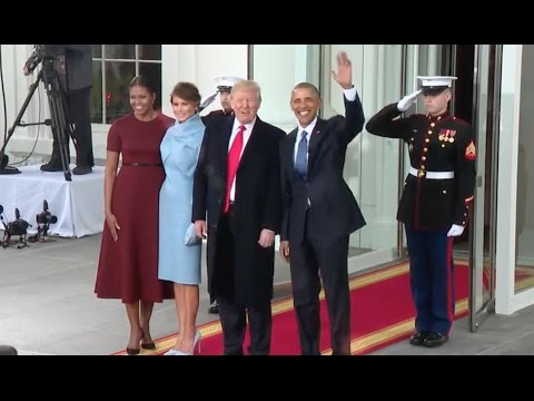 Watch the Obamas welcome the Trumps into the White House