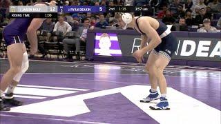 157 LBS: #1Jason Nolf (Penn State) vs. Ryan Deakin (Northwestern)   Big Ten Wrestling