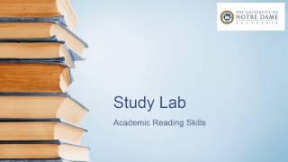 Academic reading skills