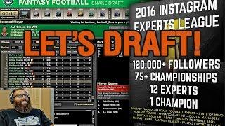 ESPN Fantasy Football Draft 2016