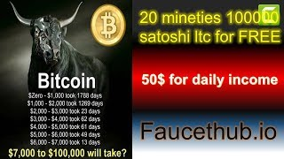 20$daily income 100000 litecoin satoshi in free over 20 Minutes.