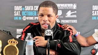 GERVONTA DAVIS IMMEDIATE REACTION AFTER KNOCKING OUT LEO SANTA CRUZ