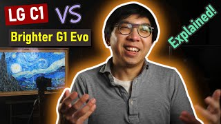 "2021 LG OLED TV Models: C1 (48"" to 83"") vs Brighter G1 Evo (Max 77"") vs 8K Z1"