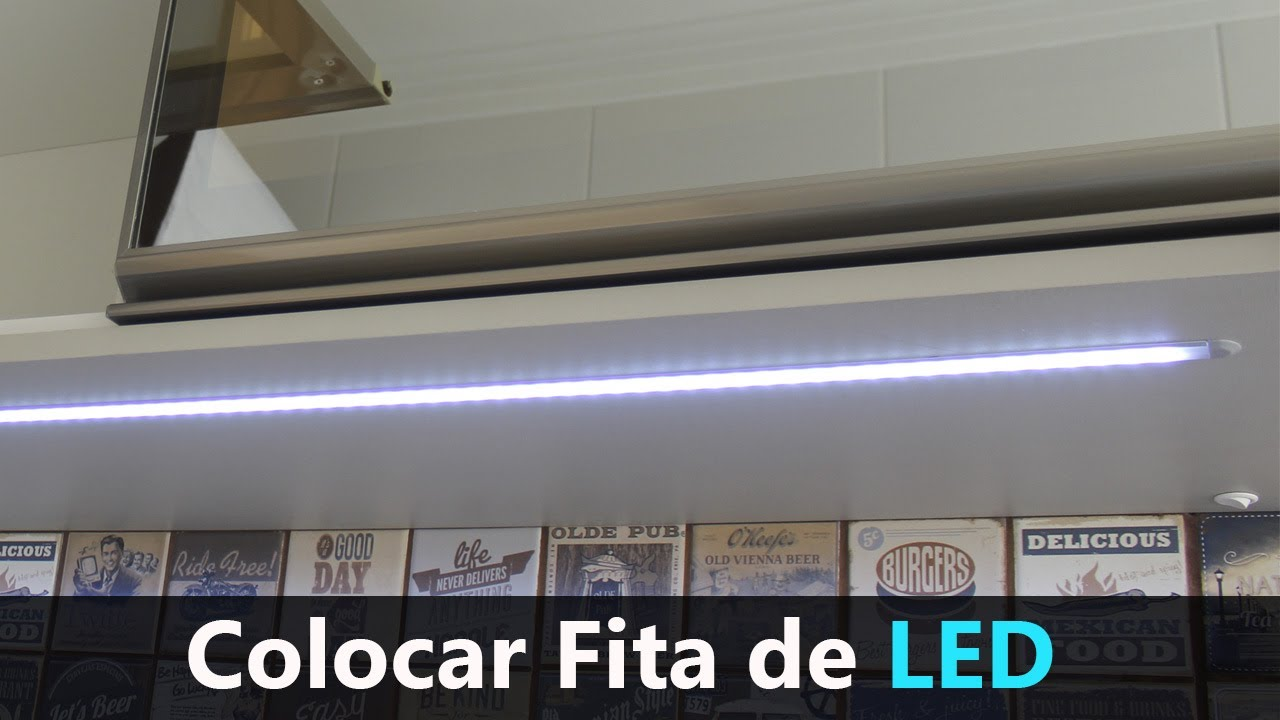 Colocar Fita de LED Embutido com Barra de Perfil HAFELE