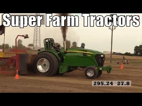 Super Farm Tractor Class From TTPA Tractor Pulls In Corunna Michigan 2018